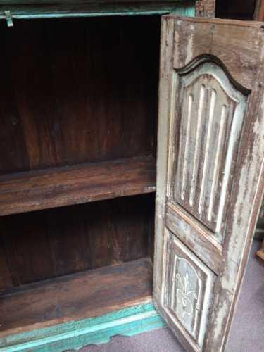kh16 RS18 27 indian furniture cabinet medium shelved open