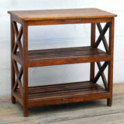 kh17-RS2019-80-A indian furniutre vintage old teak console cross sides featured