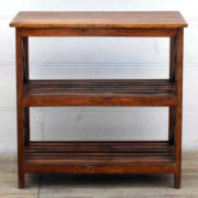 kh17-RS2019-80-A indian furniutre old teak shelving cross sides front