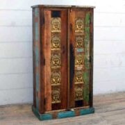 kh17 RS2019 90 indian furniture cabinet 10 buddha embossed feature