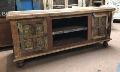 kh17 RS2019 96 indian furniture tv cabinet buddha cupboards front