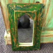 kh11-RS-23 indian mihrab mirror small green look down