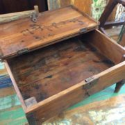 kh17-RS2019-26-a indian furniture old teak table low lid right