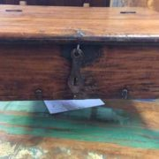 kh17-RS2019-26-a indian furniture old teak table low lid close