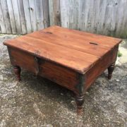 kh17-RS2019-26-a indian furniture old teak table low lid angle