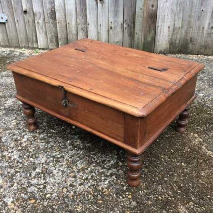 kh17-RS2019-26-b indian furniture old teak table low lid angle