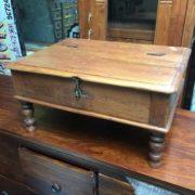 kh17-RS2019-26-b indian furniture old teak table low lid front