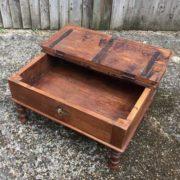 kh17-RS2019-26-b indian furniture old teak table low lid