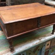 kh17-RS2019-26-c indian furniture old teak table low lid closed