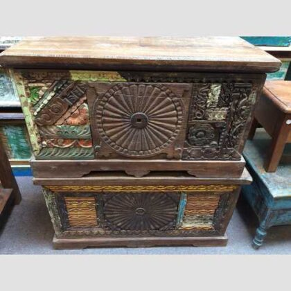 kh17-RS2019-48-indian-furniture-trunk-carved-piece-front-unique-storage a and b