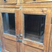 kh17 RS2019 95 indian furniture old teak cabinet part glass doors