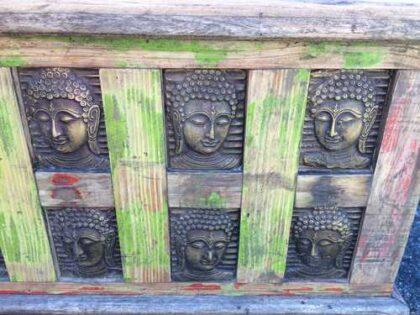 kh17-rs-2019-092 indian furniture storage trunk buddha end