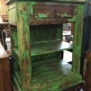 kh17 RS2019 70 indian furniture unit green unusual shelved side