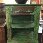kh17 RS2019 70 indian furniture unit green unusual shelved front