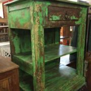 kh17 RS2019 70 indian furniture unit green unusual shelved angled
