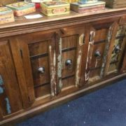k67-90765 indian furniture sideboard reclaimed cupboards banding front