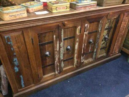 k67-90765 indian furniture sideboard reclaimed cupboards banding front