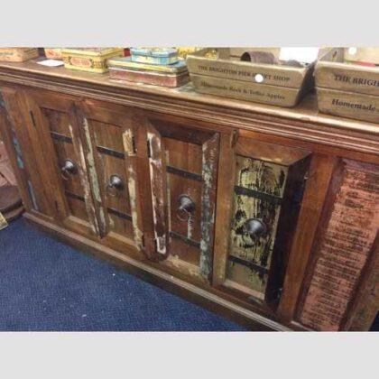 k67-90765 indian furniture sideboard reclaimed cupboards banding
