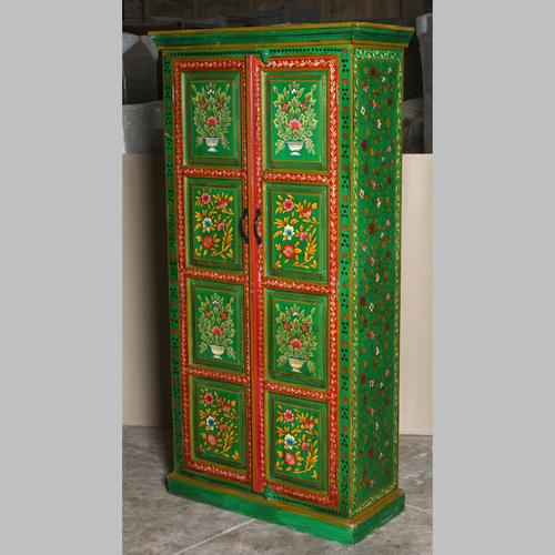 Fl Tall Cabinet Jugs Indian, Hand Painted Cabinet Indian