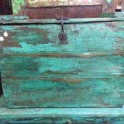 kh18 001 D indian furniture trunk vintage teak front