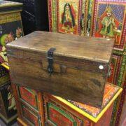 kh18 001 G indian furniture trunk vintage teak