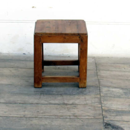 kh18 011 indian furniture stool teak small front