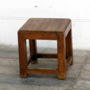 kh18 011 indian furniture stool teak small angle