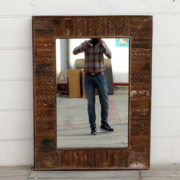 kh18 050 indian furniture mirror reclaimed front