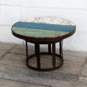 kh18 052 indian furniture side table reclaimed metal