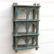 kh18 057 indian furniture shelving mihrab six hole hung