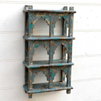 kh18 057 indian furniture shelving mihrab six hole hung