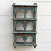 kh18 057 indian furniture shelving mihrab six hole front