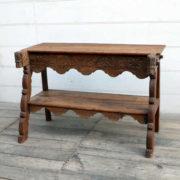 kh18 064 indian furniture consol teak carved panel