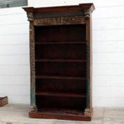kh18 067 indian furniture bookcase carved vintage reclaimed