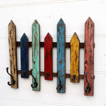 kh18 070 indian furniture hooks colourful fence