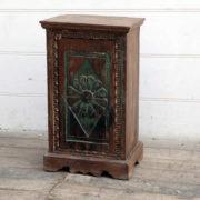 kh18 078 indian furniture cabinet bedside reclaimed carved