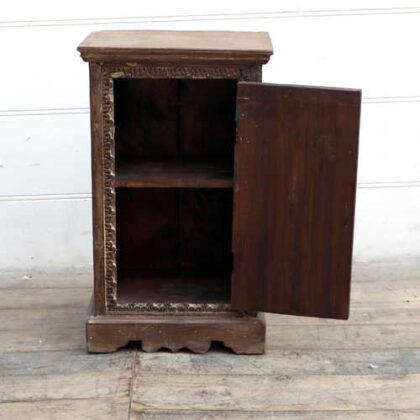 kh18 078 indian furniture cabinet bedside reclaimed carved open