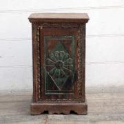 kh18 078 indian furniture cabinet bedside reclaimed carved front