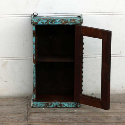 kh18 095 indian furniture cabinet glass display open