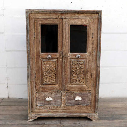 kh18 102 indian furniture cabinet reclaimed tall front