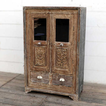kh18 102 indian furniture cabinet reclaimed tall angle