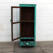 kh18 104 indian furniture cabinet glass door display open