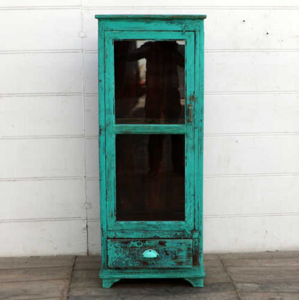 kh18 104 indian furniture cabinet glass door display front