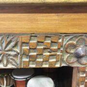 kh18 041 indian furniture bookshelf teak close top
