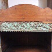 kh18 042 indian furniture bookshelf carved close