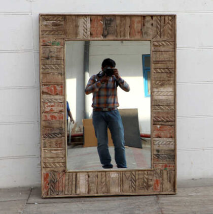 kh18 51 indian furniture mirror reclaimed natural front