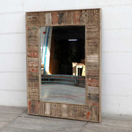 kh18 51 indian furniture mirror reclaimed natural angled