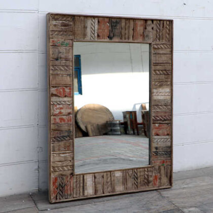 kh18 51 indian furniture mirror reclaimed natural