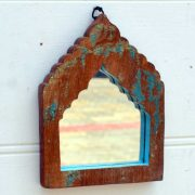kh19 RS2020 001 india accessory mirror small arch green blue brown 3