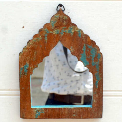 kh19 RS2020 001 india accessory mirror small arch green blue brown